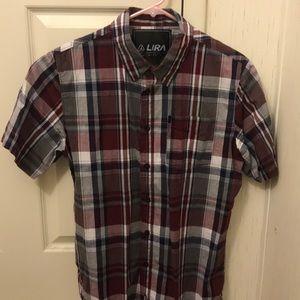 Plaid Button-Up Short Sleeve